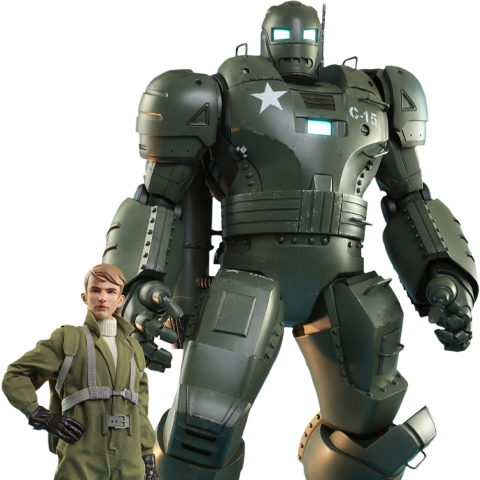 Pre-order Hot Toys: Steve Rogers & The Hydra Stomper ($625.00)