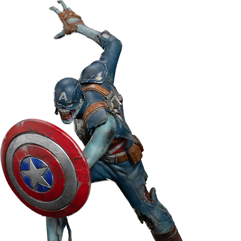 Pre-order Sideshow 1:10 Scale Statue by Iron Studios: Zombie Captain America ($150.00)